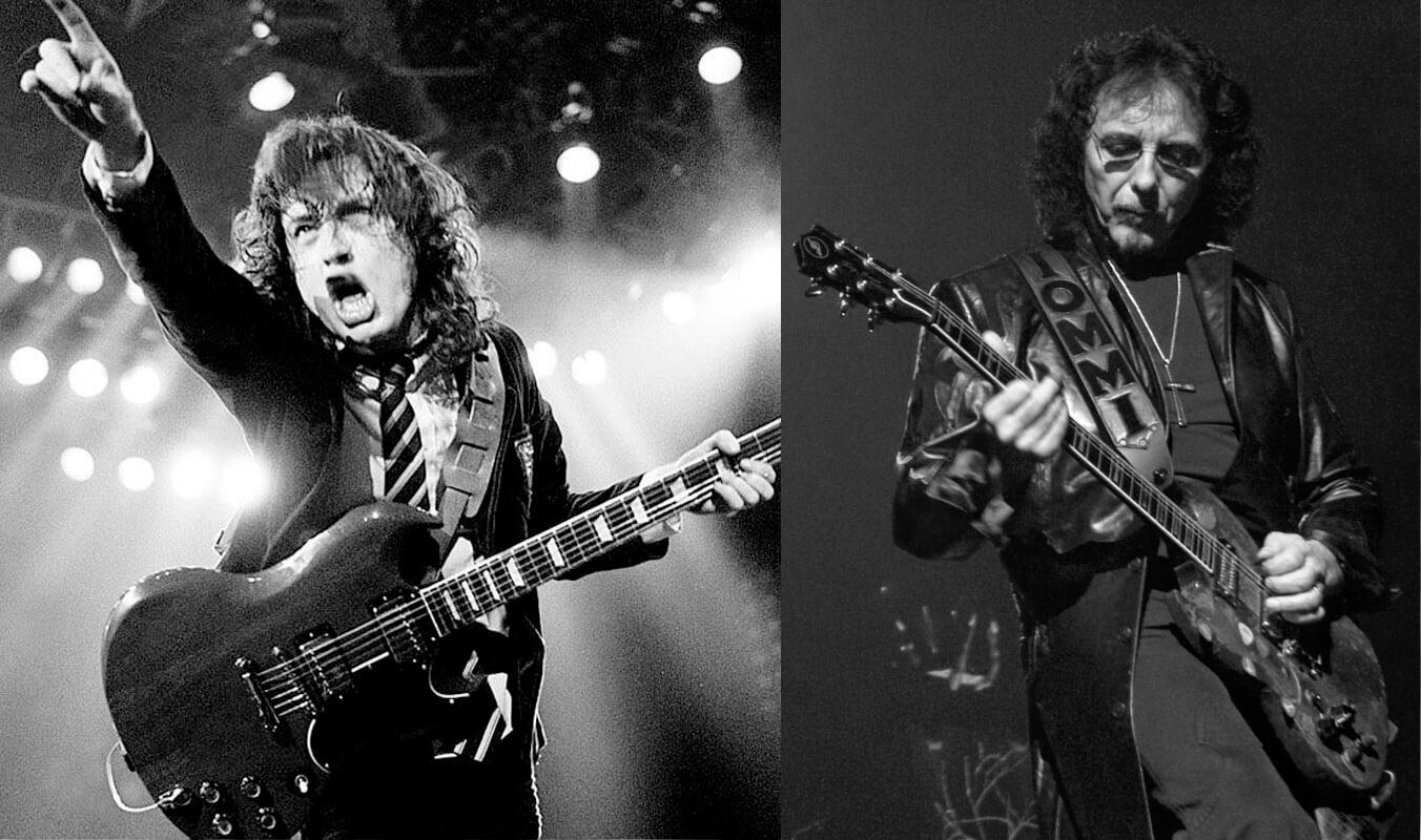 Tommy Iommi and Angus Young