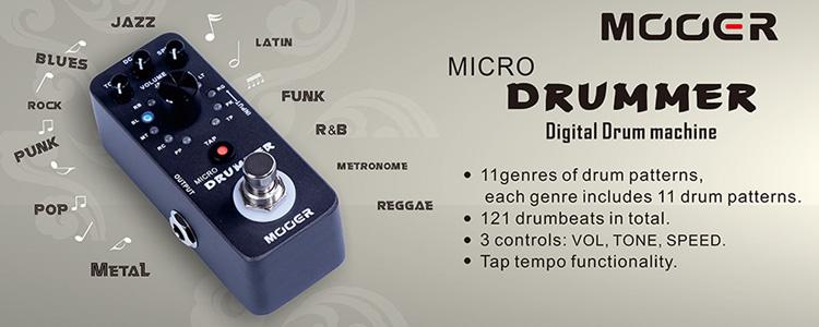 Mooer Micro Drummer - ELTON.COM.UA