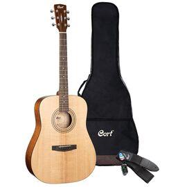 Акустична гітара з чохлом та аксесуарами CORT EARTH PACK (Open Pore), фото