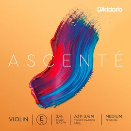 Струна Ми для скрипки D`ADDARIO A311 3/4M Ascenté Violin String E 3/4M, фото