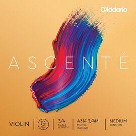 Струна Соль для скрипки D`ADDARIO A314 3/4M Ascenté Violin String G 3/4M, фото