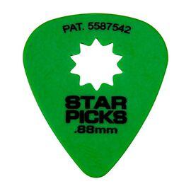 Медіатор EVERLY STAR PICKS (одинарні) 0,88mm (зелений), фото