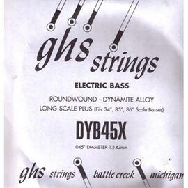 Одиночная струна для бас-гитары GHS STRINGS DYB45X, фото