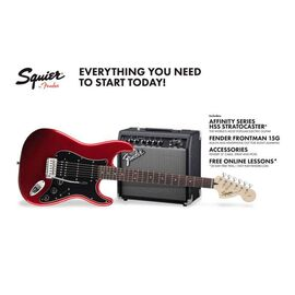 Гитарный набор SQUIER by FENDER STRAT PACK HSS CANDY APPLE RED, фото