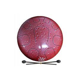 Глюкофон PALM PERCUSSION METAL TONGUE DRUM 9 LEAFS RED SPLASH, фото