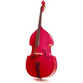 Контрабас STENTOR 1950LCRD Harlequin Rockabilly Double Bass 3/4 (RED), фото