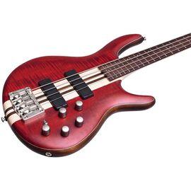 Бас-гитара CORT A4 Plus FMMH (Open Pore Black Cherry), фото 5