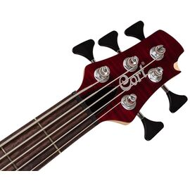 Бас-гитара CORT A5 Plus FMMH (Open Pore Black Cherry), фото 4