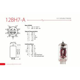 Лампа для гітарного підсилювача JJ ELECTRONIC 12BH7-A, фото 2