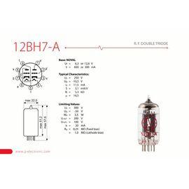 Лампа для гитарного усилителя JJ ELECTRONIC 12BH7-A, фото 2