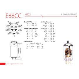 Лампа вакуумна для преампа / мікрофона JJ ELECTRONIC E88CC Gold Pin, фото 2