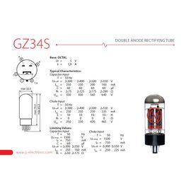 Лампа вакуумна випрямляча для гітарного підсилювача JJ ELECTRONIC GZ34 / 5AR4, фото 2