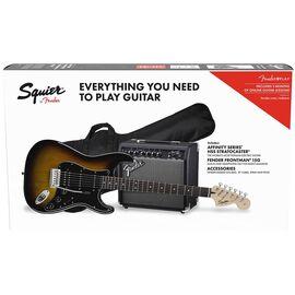 Гитарный набор SQUIER by FENDER AFFINITY SERIES STRAT HSS PACK LR BS GIG BAG 15G, фото