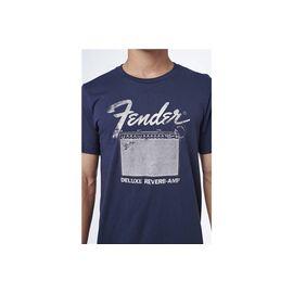 Футболка FENDER T-SHIRT DELUXE REVERB BLUE L, фото 4