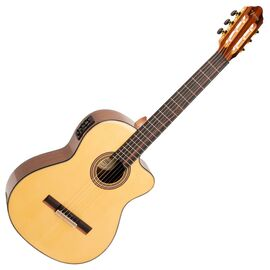 4/4 Классическая гитара с вырезом и подключением VALENCIA VC564CE, фото