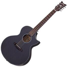 Акустическая 7-и струнная гитара с вырезом и подключением SCHECTER ORLEANS STAGE-7 SSTBLK, фото