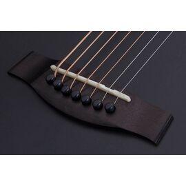 Акустическая 7-и струнная гитара с вырезом и подключением SCHECTER ORLEANS STAGE-7 SSTBLK, фото 7