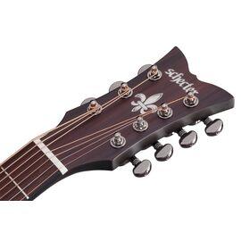 Акустическая 7-и струнная гитара с вырезом и подключением SCHECTER ORLEANS STAGE-7 SSTBLK, фото 12