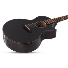 Акустическая 7-и струнная гитара с вырезом и подключением SCHECTER ORLEANS STAGE-7 SSTBLK, фото 4
