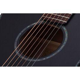 Акустическая 7-и струнная гитара с вырезом и подключением SCHECTER ORLEANS STAGE-7 SSTBLK, фото 8