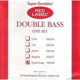 Струны для контрабаса Super-Sensitive Red Label SS8108 (Extra Long), фото