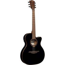 Гитара электроакустическая Lag Tramontane T118ASCE-BLK, фото