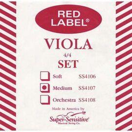 Струны для альта Super-Sensitive Red Label SS4107 (Medium), фото