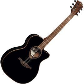 Гитара электроакустическая Lag Tramontane T118ASCE-BLK, фото 3