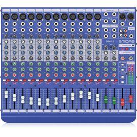 Аналоговий мікшер Midas DM16, 12 моно + 2 стерео входу, 12 мікрофонних передпідсилювачів, фото