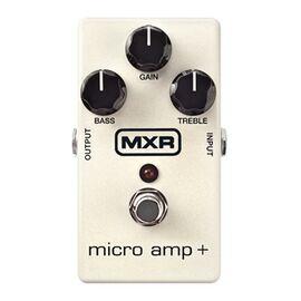 Гитарная педаль бустер DUNLOP M233 MXR MICRO AMP+ STANDARD, фото