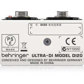 Директ-бокс Behringer Ultra-DI DI20, фото 2