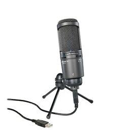 Студийный микрофон Audio Technica AT2020USB+, конденсаторный, кардиоидный, фото 2