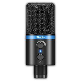 USB мікрофон для iPhone, iPad, iPod touch, Mac, ПК і Android IK MULTIMEDIA iRig Mic Studio (Black), фото