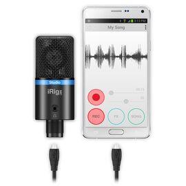 USB мікрофон для iPhone, iPad, iPod touch, Mac, ПК і Android IK MULTIMEDIA iRig Mic Studio (Black), фото 3