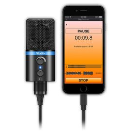 USB мікрофон для iPhone, iPad, iPod touch, Mac, ПК і Android IK MULTIMEDIA iRig Mic Studio (Black), фото 5