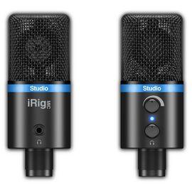USB мікрофон для iPhone, iPad, iPod touch, Mac, ПК і Android IK MULTIMEDIA iRig Mic Studio (Black), фото 8
