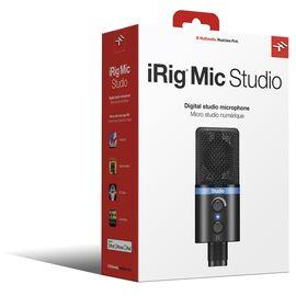 USB мікрофон для iPhone, iPad, iPod touch, Mac, ПК і Android IK MULTIMEDIA iRig Mic Studio (Black), фото 9