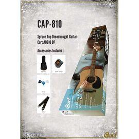 Акустична гітара c чохлом і аксесуарами CORT TRAILBLAZER PACK CAP-810 (Open Pore), фото 4