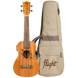 Электроакустическая укулеле концерт Flight DUC523CEQ Mahogany, фото