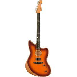 Полуакустическая гитара FENDER AMERICAN ACOUSTASONIC JAZZMASTER TOBACCO SUNBURST, фото