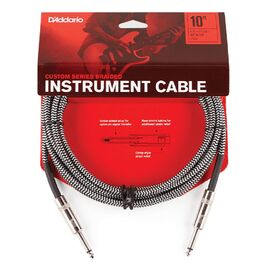 Инструментальный кабель D'ADDARIO PW-BG-10BG Custom Series Braided Instrument Cable - Grey (3m), фото