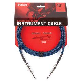 Инструментальный кабель D'ADDARIO PW-BG-10BU Custom Series Braided Instrument Cable - Blue (3m), фото