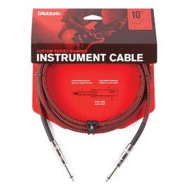 Инструментальный кабель D'ADDARIO PW-BG-10RD Custom Series Braided Instrument Cable - Red (3m), фото
