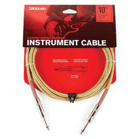 Инструментальный кабель D'ADDARIO PW-BG-10TW Custom Series Braided Instrument Cable - Tweed (3m), фото