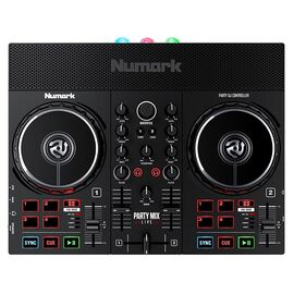 DJ контроллер со встроенным световым шоу и динамиками NUMARK PARTY MIX LIVE, фото