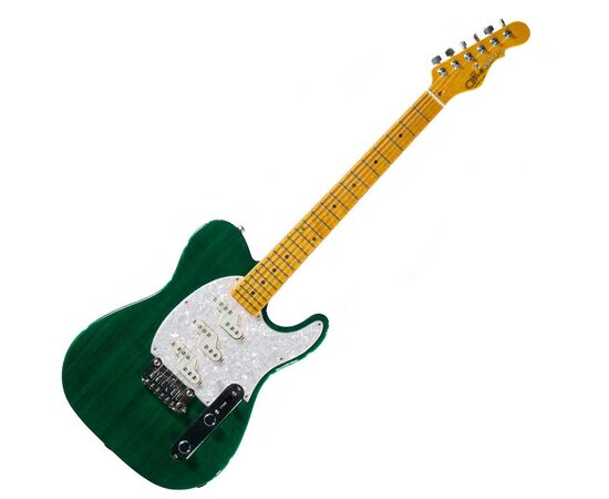 Электрогитара G&L ASAT Z3 (Clear Forest Green, maple, 3-ply Pearl) № CLF45565, фото