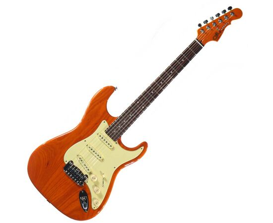 Электрогитара G&L LEGACY (Clear Orange.3-ply Vintage Creme. rosewood), фото