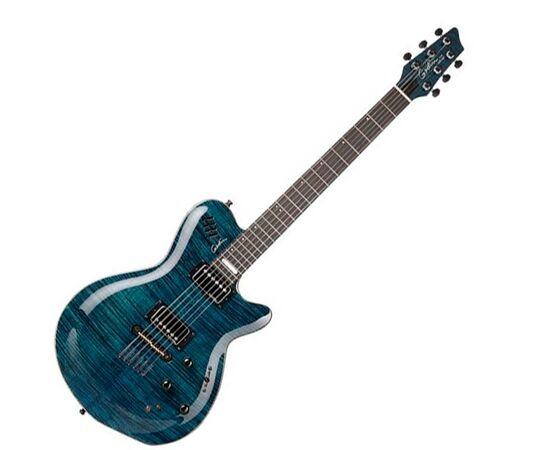 Електрогітара GODIN 22915 LGX-SA (S) Trans Blue Flame AAA, фото
