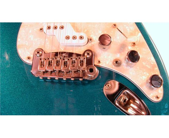 Электрогитара G&L COMANCHE (Emerald Blue. 3-ply Pearl. rosewood). № CLF43398, фото 5