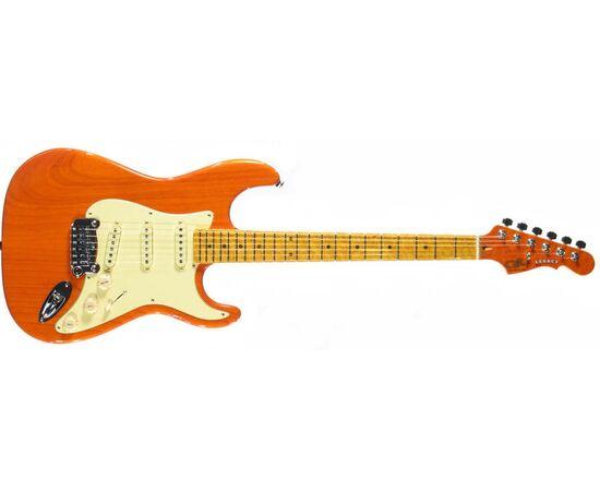 Электрогитара G&L LEGACY (Clear Orange, 3-ply Vintage Creme, Maple), фото 2
